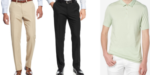 Macy's: Men's Haggar Dress Pant AND Polo Shirt Only $19.98 (Regularly Over $100)