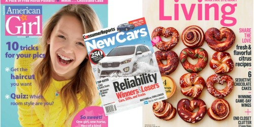 Weekend Magazine Sale (Save on Consumer Reports, American Girl, US Weekly & More)