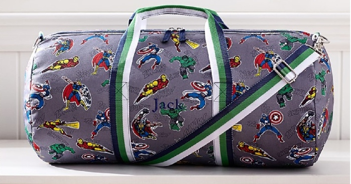 pottery barn kids extra 20 off free shipping large marvel duffel shipped reg 44. Black Bedroom Furniture Sets. Home Design Ideas