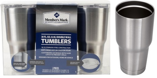 Sam's Club: Member's Mark Double Wall 30-Oz Tumblers 2-Pack Only $19.98 + More