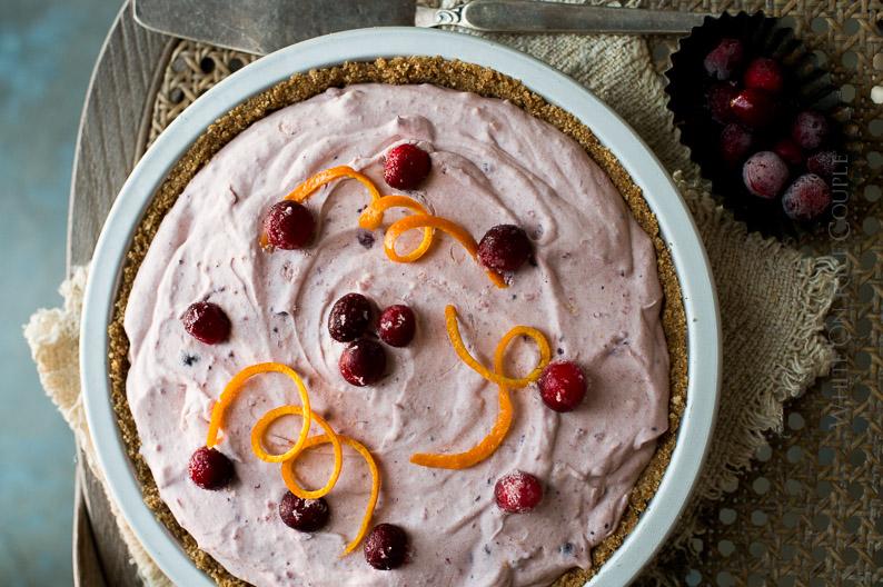 No-Bake Fluffy Cranberry Pie