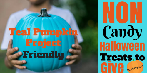 Teal Pumpkin Project: 25 NON-Candy Treats to Give Out on Halloween