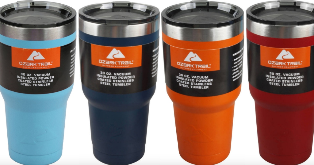 de7626c8144 Head on over to Walmart.com where you can score this highly rated Ozark  Trail 30-Ounce Vacuum-Insulated Powder Coated Stainless Steel Tumbler in 7  different ...