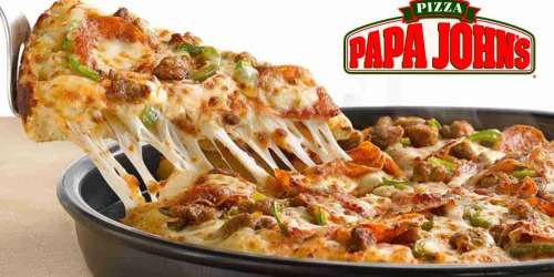 Papa John's: Large 3-Topping Pizza + Large 1-Topping Pizza Only $10 w/ Visa Checkout