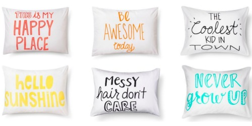 Target.com: Inspirational Pillowcases Only $3.37, Kid's Sleeping Bags Only $13.49 + More