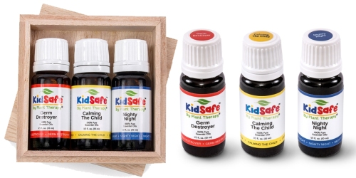 3 Plant Therapy KidSafe Essential Oils AND Wooden Gift Box ONLY $19.49 Shipped