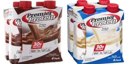 Walgreens: Premier Protein Shakes 4ct Only $2.50 Each (Regularly $8.49)
