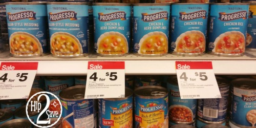 NEW Progresso Soup Coupons = Soup As Low As 60¢ at Target