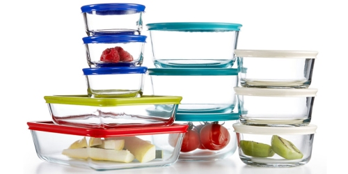 Macy's: Pyrex 22 Piece Food Storage Container Set ONLY $24.49 (Regularly $79.99)