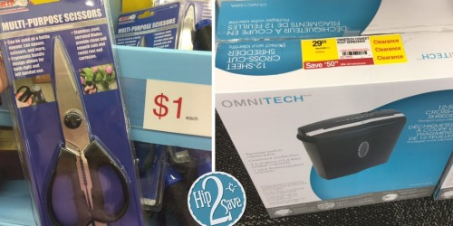 Staples Clearance Finds: Possible BIG Savings on OmniTech Shredder, Post-it, Bissell Vacuum & More