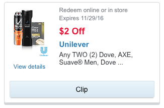 Unilever coupon
