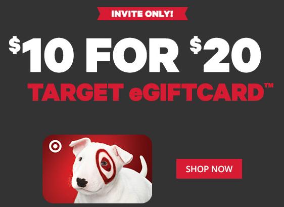 Target eGift Card offer