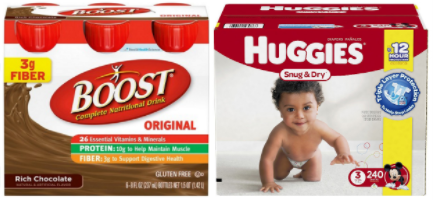 boost and huggies