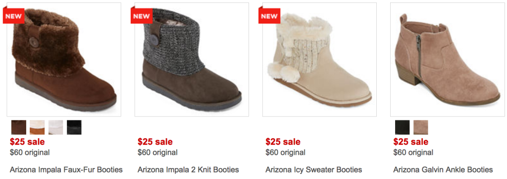 1e5526abb9b6a You can also snag a pair of select Arizona brand Booties on sale for  25  (regularly  60) for just  15 whenever you use the  10 off  25 promo code  HURRY39 at ...