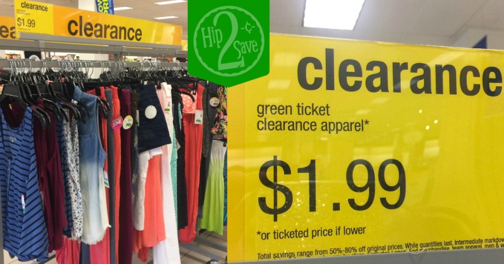 3e48d74f7f1 Sears: $1.99 Green Ticket Clearance Apparel - Hip2Save