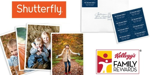Kellogg's Family Rewards Members: Possible Free Shutterfly Address Labels or 101 FREE 4×6 Prints