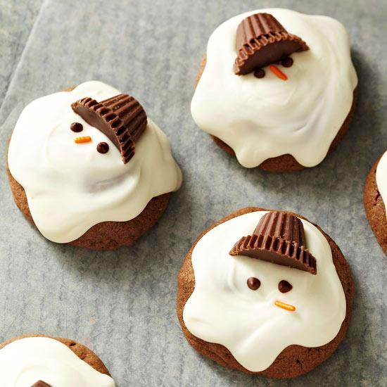 Chocolaty Melting Snowmen Cookies