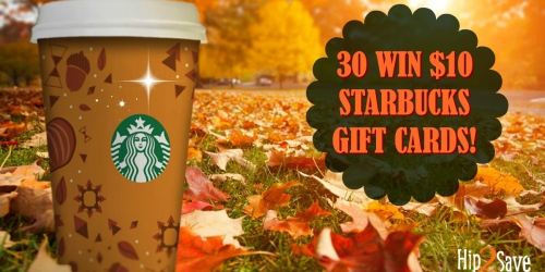 30 Hip2Save Subscribers Win $10 Starbucks Gift Cards (Yes Folks, We Are Picking 30 Winners!)
