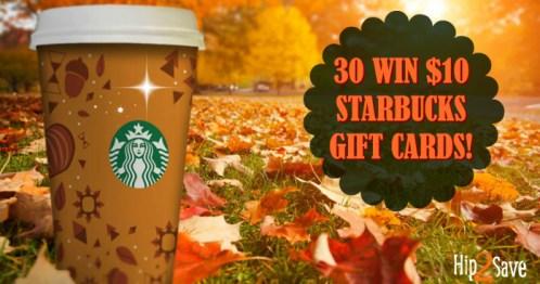 Starbucks Hip2Save Giveaway