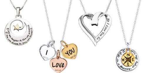 Macy's: Engraved Sterling Silver Necklaces Only $21.25 (Regularly $100) & More