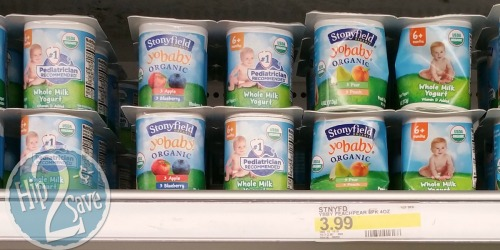 Target: Stonyfield YoBaby Organic Yogurt 6 Pack Only $1.22 (After Ibotta)