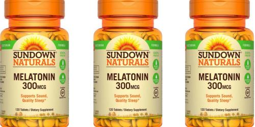 Amazon: Sundown Naturals Melatonin 120-Tablets ONLY $2.69 Shipped