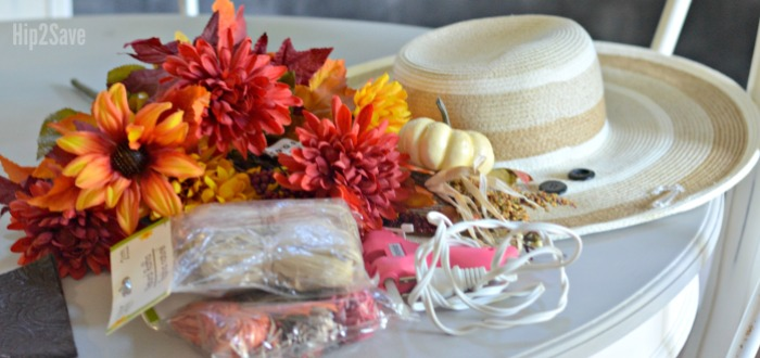 supplies-for-scarecrow-hat-craft