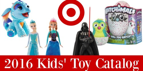 Target Shoppers! New 2016 Kids' Toy Catalog AND 50% Off Toy Discounts Start 11/1