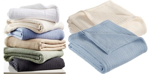 Macy's: Lauren Ralph Lauren Classic 100% Cotton Blankets Only $17.99 (Regularly $90)