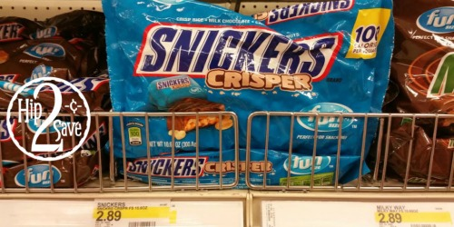 Target Cartwheel: NEW 40% Off Snickers Crisper Offer = 10.6 Oz. Bags As Low As 82¢ Each
