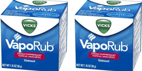 Target.com: Vicks VapoRub Cough Suppressant Ointment Only $2.23 (Regularly $4.99)
