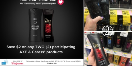 Walgreens: Clip $2/2 AXE & Caress Products Coupon