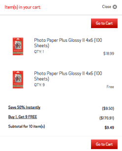Canon Ten 100 Count Sheets Of 4x6 Photo Paper Only 949 Shipped