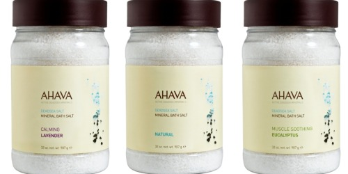 AHAVA: Mineral Bath Salts Only $8.50 (Reg. $22) & Body Exfoliating Scrubs Only $10 (Reg. $28)