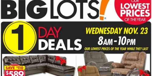 Big Lots: Black Friday Ad Has Been Released