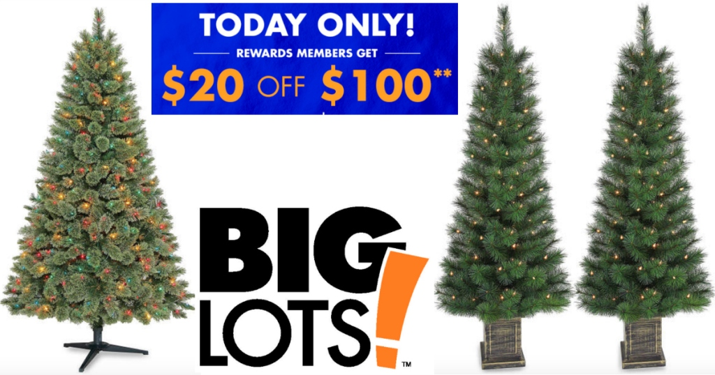 Big Lots: $20 Off $100 Purchase = 6' Pre-Lit Christmas ...