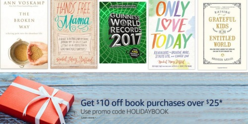 Amazon: $10 Off a $25+ Printed Book Purchase