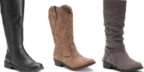 Kohl's: Girl's Boots Only $11.99 (Regularly $54.99)