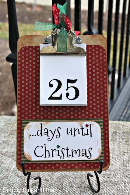 Countdown Clipboard Advent