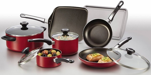 Kohl's: T-Fal 20 Piece Cookware Set ONLY $39.49 Shipped After Rebate + Score $15 Kohl's Cash