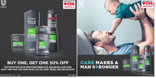 CVS: Buy 1 Get 1 50% Off Dove Men+Care Products