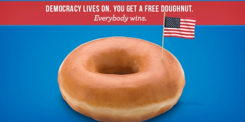 Free Krispy Kreme Doughnut – Just Show Your Voting Sticker (November 8th)
