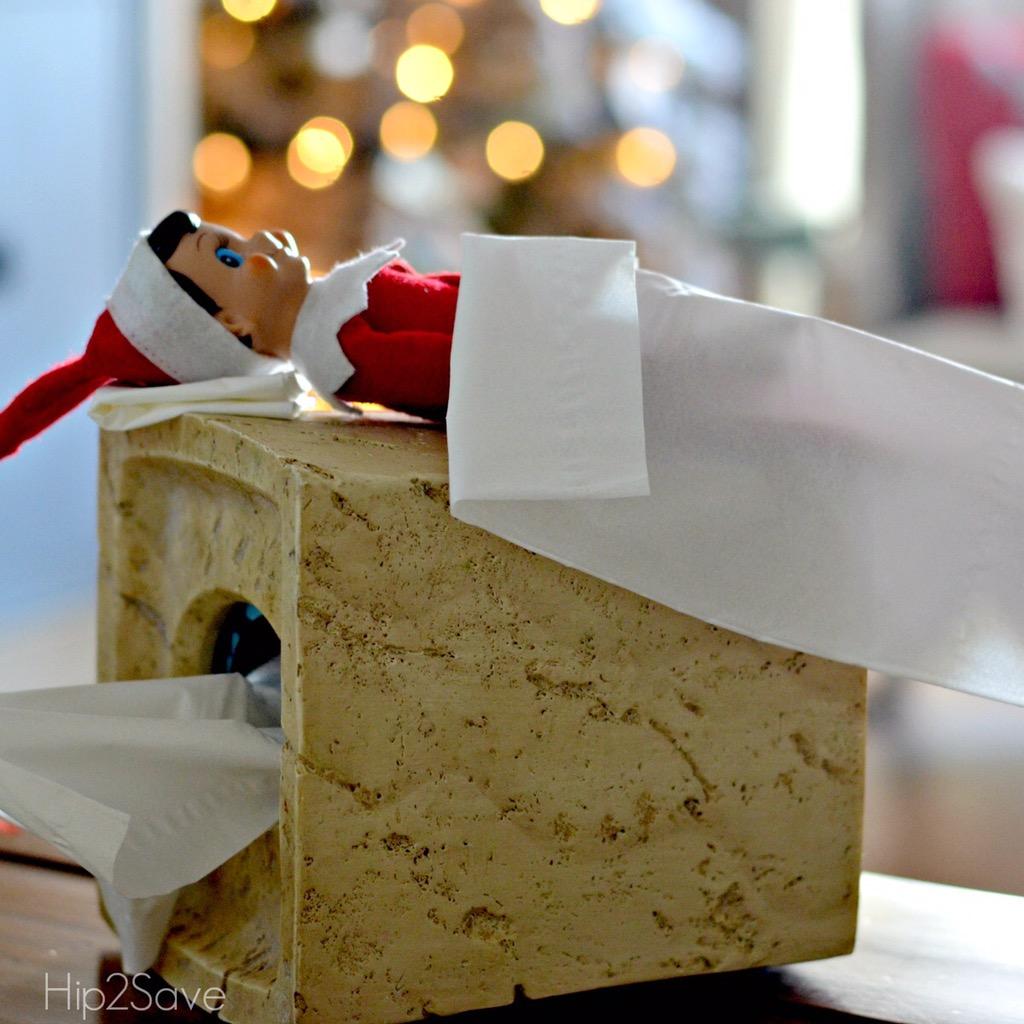 elf-on-the-shelf-sleeping-on-tissues