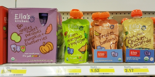 New $0.55/1 Ella's Kitchen Coupon = Pouches Only 51¢ At Target (Regularly $1.50+)