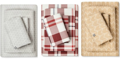 Target: Great Buys on Flannel Sheet Sets AND Biddeford Electric Micro Plush Throws