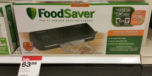 Target Shoppers! FoodSaver Vacuum Sealing System Only $34.39 (Regularly $79.99)