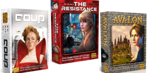 20% Off Select Board Games (The Resistance, Sheriff of Nottingham, Pandemic, 7 Wonders & More)