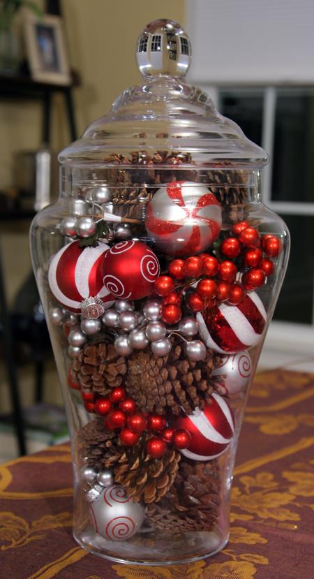 Dollar Store Glass Jar Centerpiece