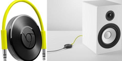 Google Chromecast Audio Streamer $25 Shipped