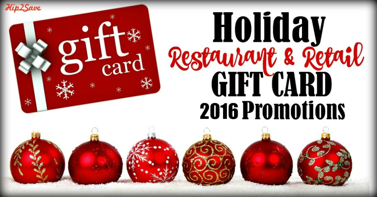 2016 Holiday Restaurant & Retail Gift Card Promotions - Hip2Save